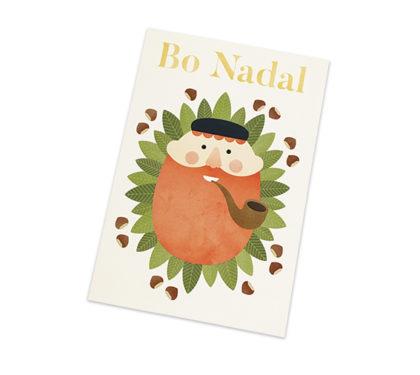 Postal do Apalpador do Nadal en Galicia