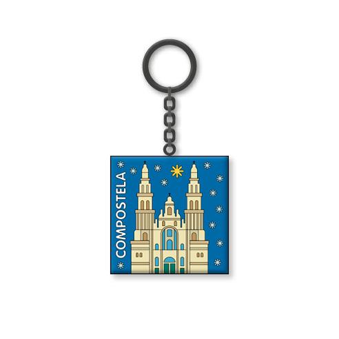 Chaveiro coa Catedral de Santiago de Compostela